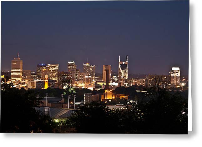 Nashville Cityscape 1 Greeting Card by Douglas Barnett