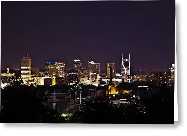 Nashville Cityscape 4 Greeting Card by Douglas Barnett