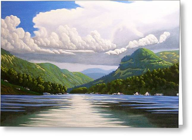 Off The Boat Greeting Card by Larry Hoskins
