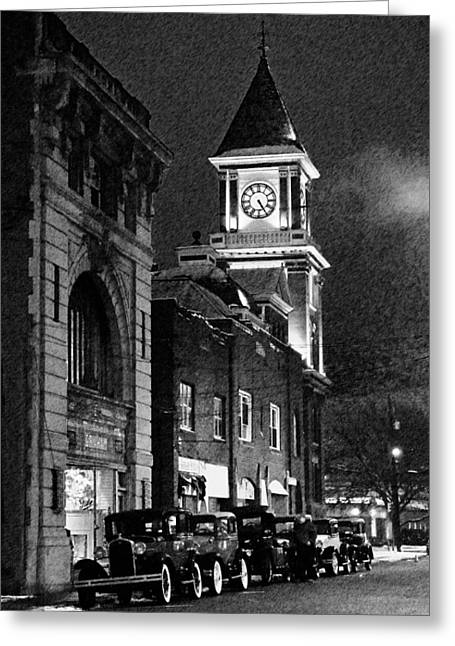 Old City Hall Greeting Card by Wade Aiken