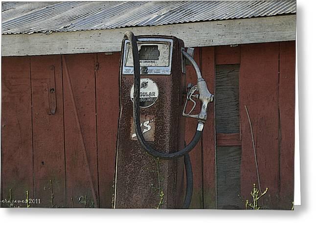 Old Farm Pump Greeting Card by Tamera James