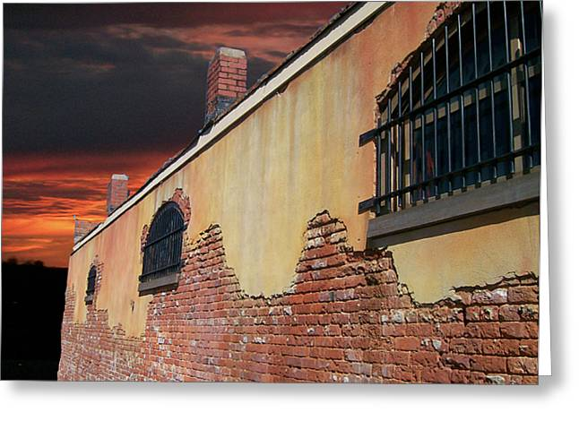 Greeting Card featuring the photograph Old Jail by Larry Bishop