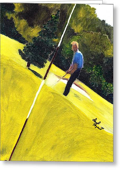 One Putt Away Greeting Card by David Poyant