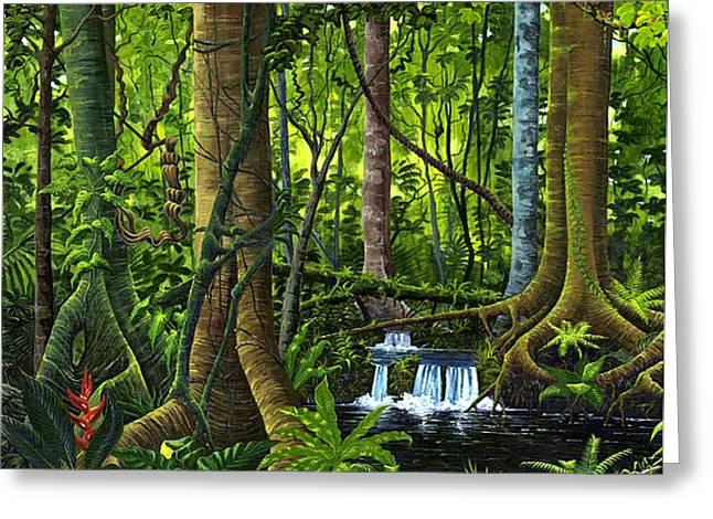 Osa Peninsula Rainforest Greeting Card