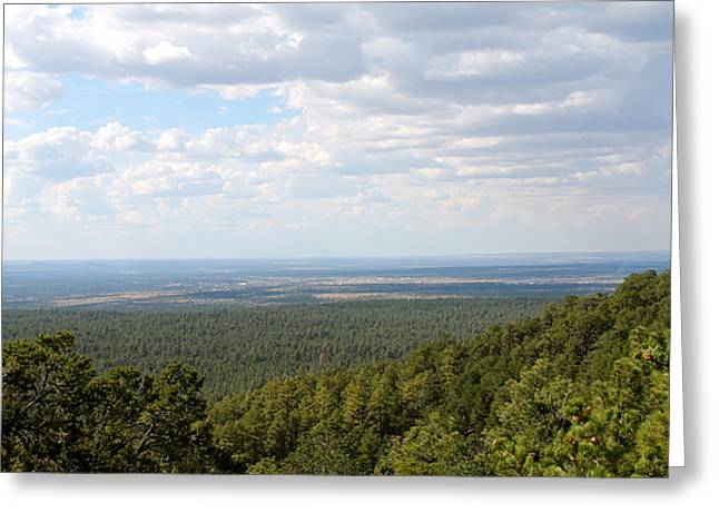 Overlooking Pinetop Greeting Card by Pamela Walrath