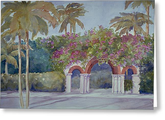 Palm Beach Gates Greeting Card