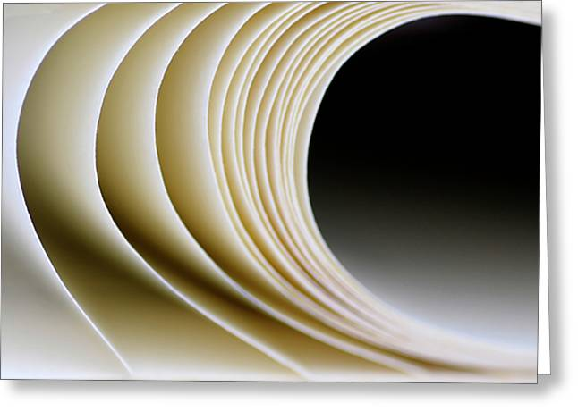 Greeting Card featuring the photograph Paper Curl by Pedro Cardona