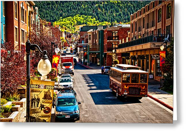 Park City Trolley Greeting Card