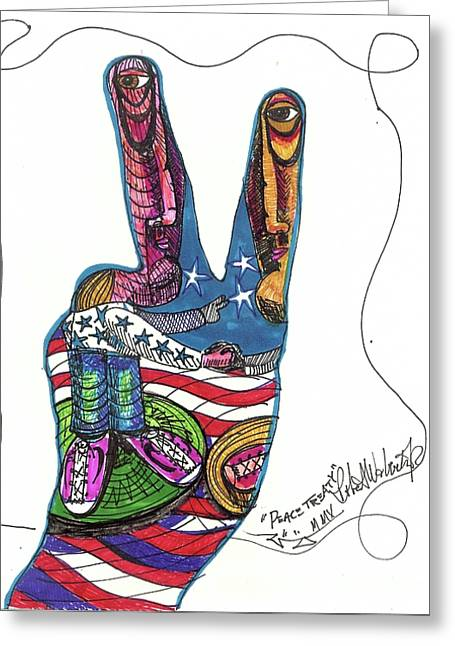 Peace Treaty Greeting Card by Robert Wolverton Jr