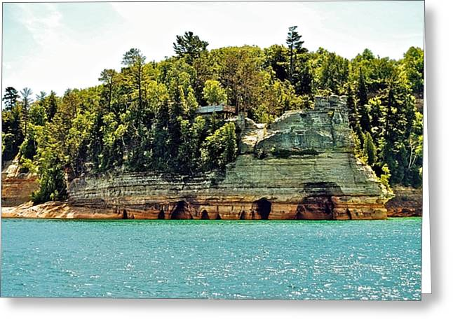 Pictured Rock 6323  Greeting Card by Michael Peychich