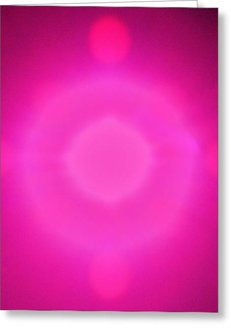 Pink Power Greeting Card by Joshua Sunday