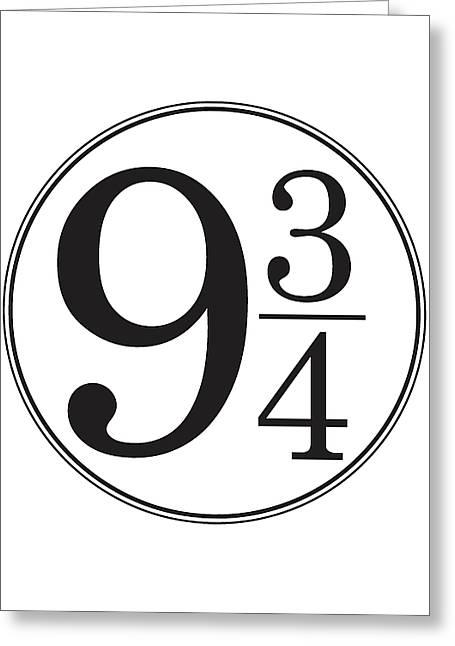 Platform Nine And Three Quarters - Harry Potter Wall Art Greeting Card