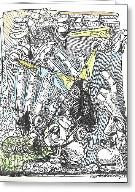 Plop Greeting Card by Robert Wolverton Jr