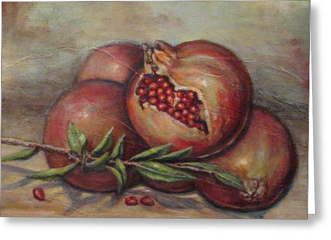 Pomegranetes Greeting Card