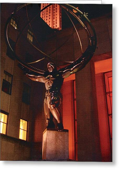 Prometheus At Night Greeting Card by Alton  Brothers