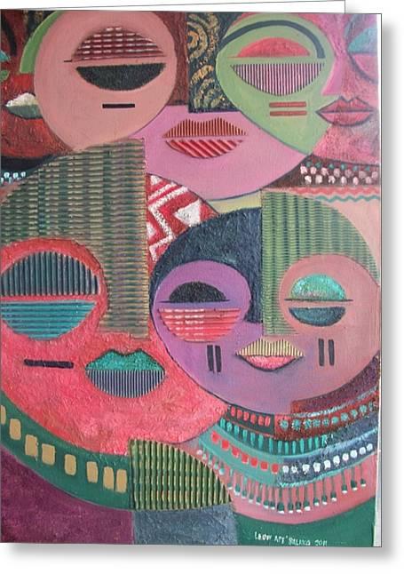 Psyche Greeting Card by Leon Salako