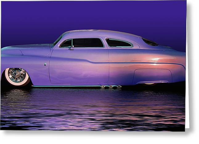 Purple Sled Greeting Card by Bill Dutting