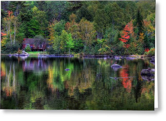 Reflection Of Solitude Greeting Card by Lori Deiter