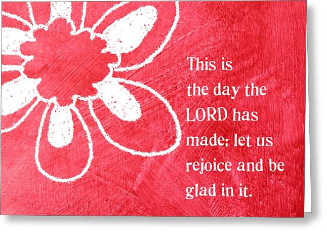 Rejoice Greeting Card by Linda Woods
