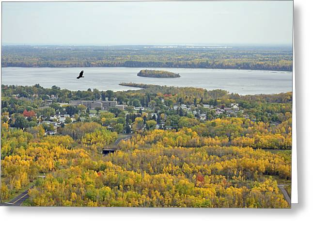 River View Greeting Card by Whispering Feather Gallery