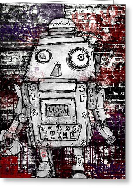 Robot Rock  Greeting Card