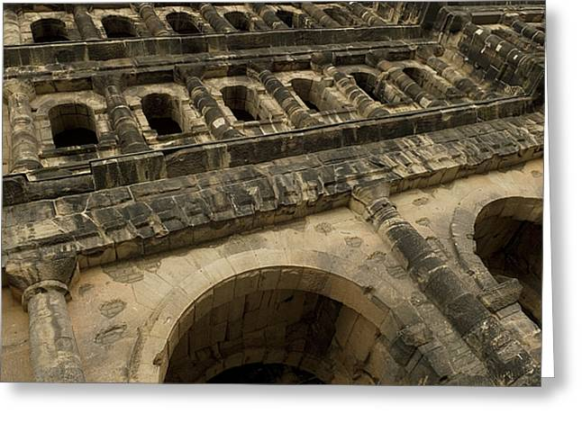 Greeting Card featuring the photograph Roman City Gate - Porta Nigra by Urft Valley Art