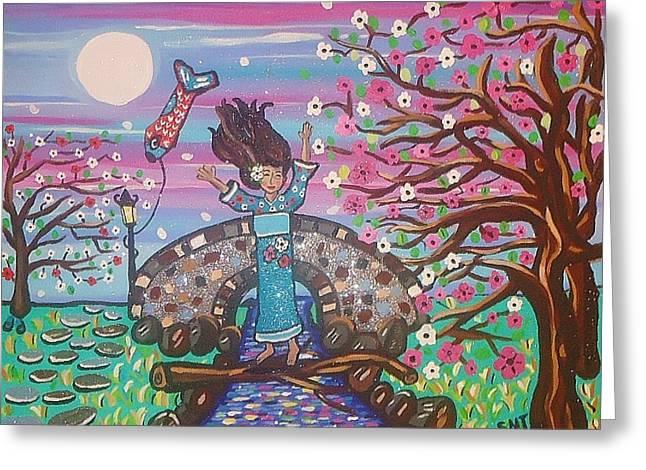 Sakura Dreams Greeting Card by Stephanie Temple