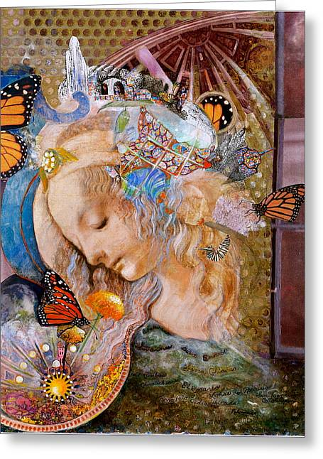Sanctuary Greeting Card by Diane Woods