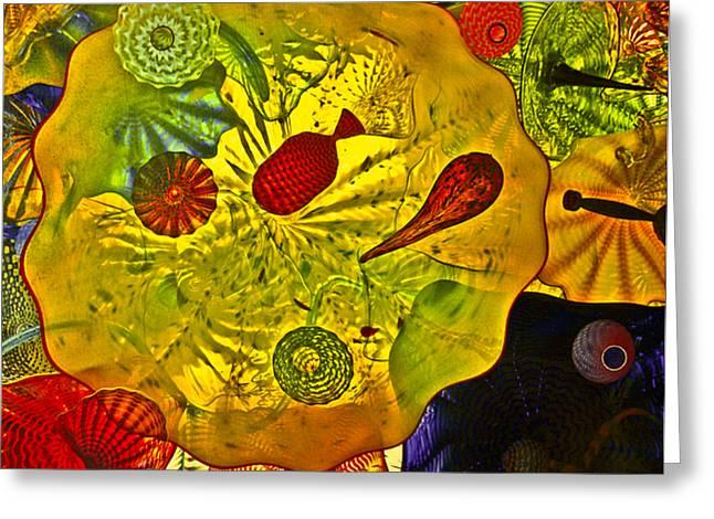 Sea Of Glass Greeting Card by James Mancini Heath
