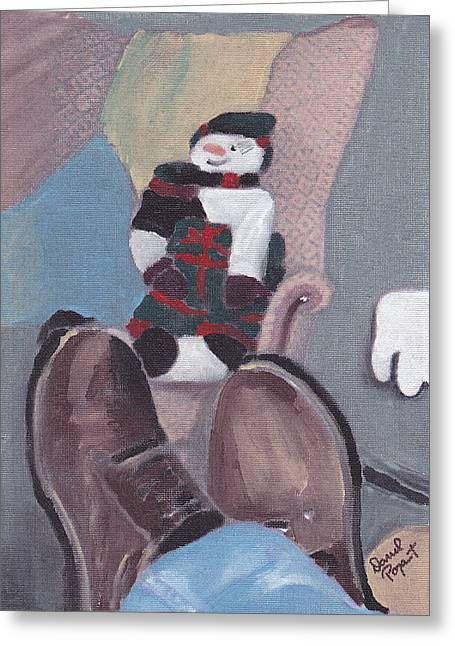 Self Portrait Greeting Card by David Poyant