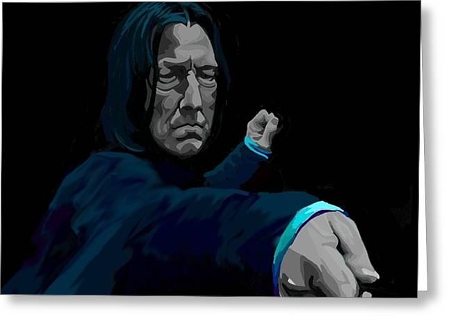 Severus Greeting Card by Lisa Leeman