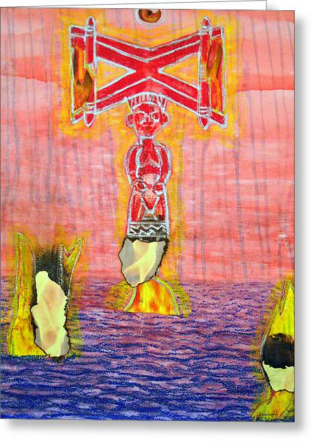 Shango Greeting Card by Duwayne Washington