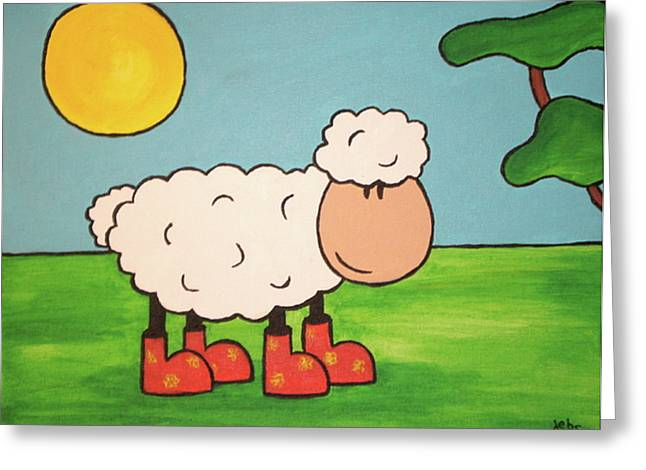 Sheeep Greeting Card by Sheep McTavish