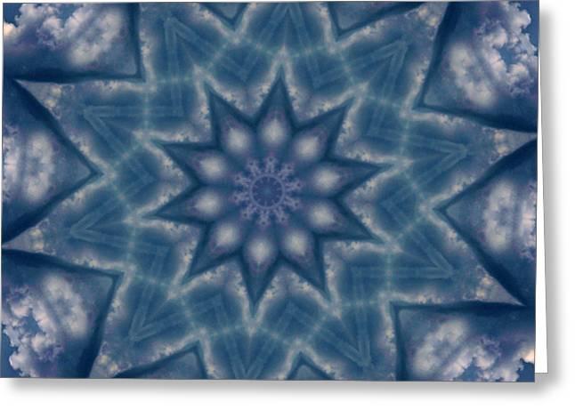 Sky Mandalas 6 Greeting Card by Ken Frischkorn