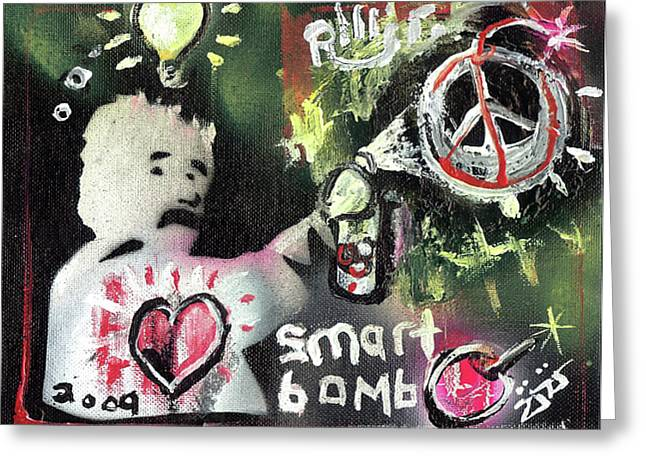 Smart Bomb Greeting Card by Robert Wolverton Jr