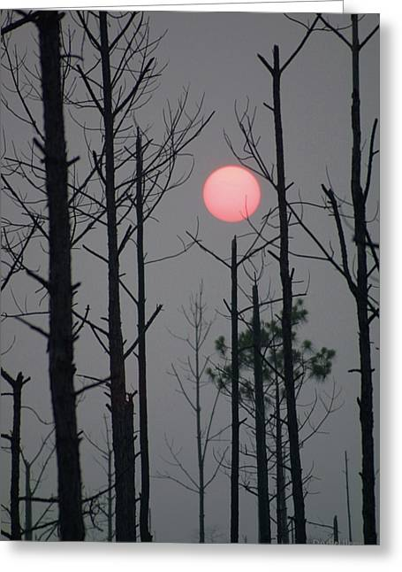 Smokey Sunset Greeting Card