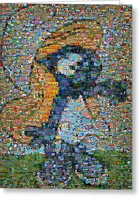 Smurfette The Smurfs Mosaic Greeting Card