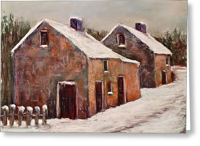 Snow Fall In Ireland Greeting Card by Joyce A Guariglia