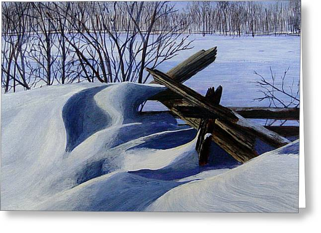 Snow Sculpture Greeting Card by Doug Goodale