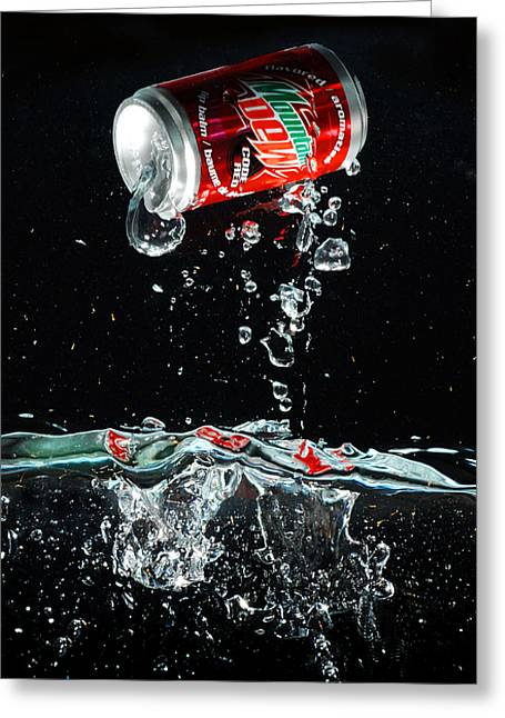 Soda Greeting Card by Dung Ma