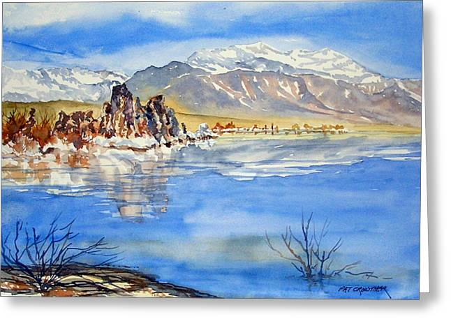 Greeting Card featuring the painting South Tufa by Pat Crowther
