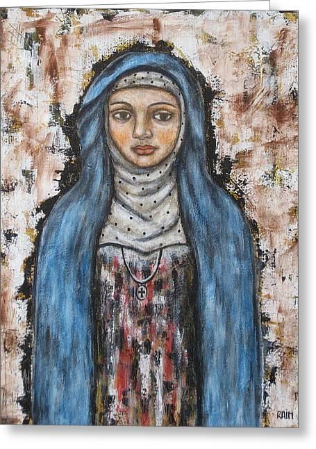 St. Monica Greeting Card by Rain Ririn