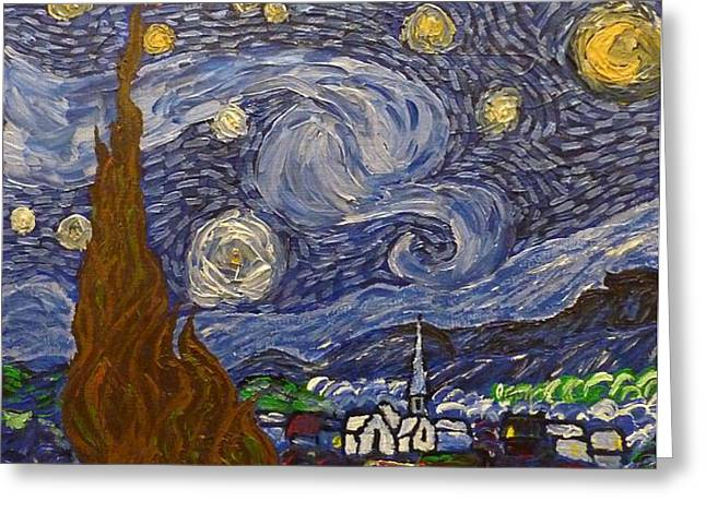 Starry Night - An Ode To Vincent Greeting Card