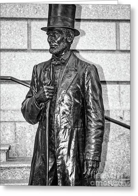 Statue Of Abraham Lincoln #1 Greeting Card by Julian Starks