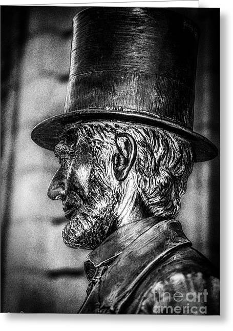 Statue Of Abraham Lincoln #5 Greeting Card by Julian Starks