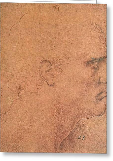 Study For The Last Supper, Apostle Bartholomew Greeting Card by Leonardo da Vinci