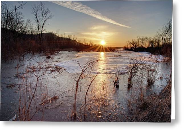 Sunrise At The Refuge Greeting Card