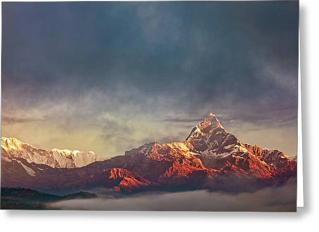 Sunrise On Anapurna Greeting Card