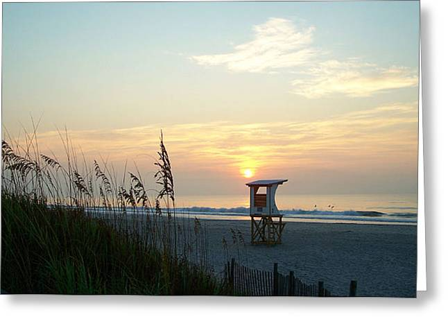 Sunrise Over Wrightsville Beach Greeting Card