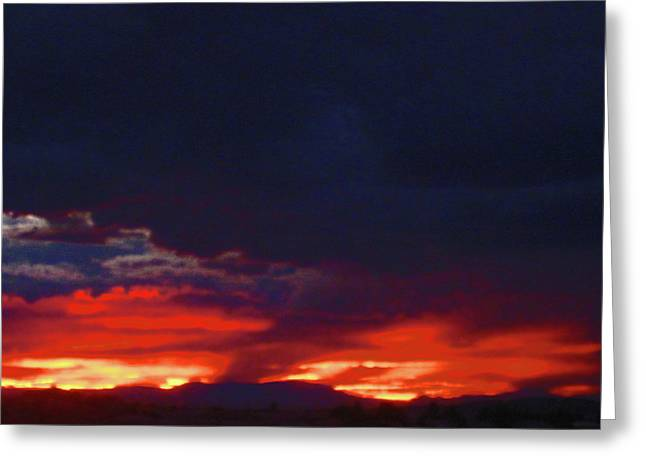 Sunset 2 Greeting Card by Tammy Sutherland